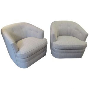 swivel barrel chair l