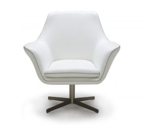 swivel lounge chair divani casa a modern leather swivel lounge chair white