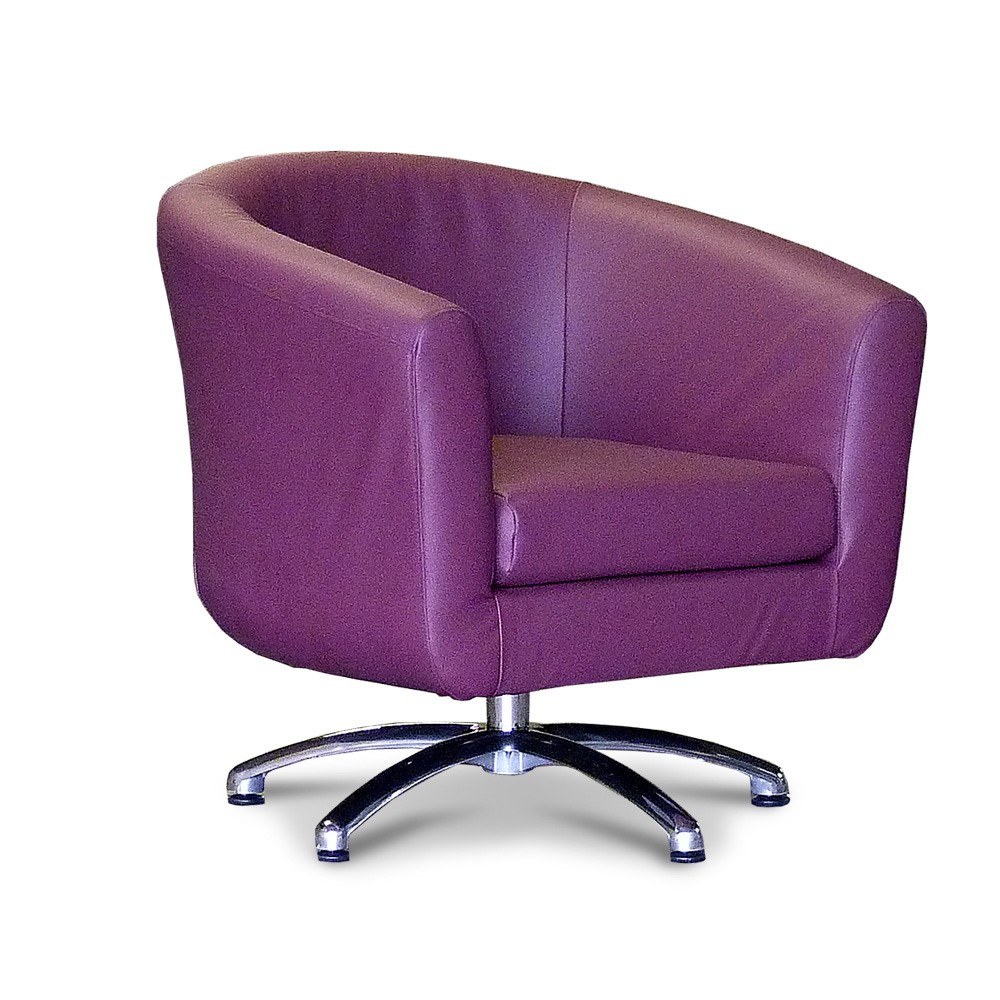 swivelling tub chair tub chairs swivel faux leather plum