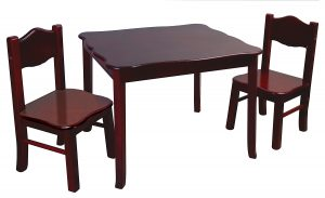 table and chair guidecraft classic espresso table and chairs set g raw