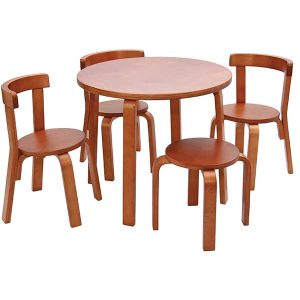 table and chair s toddler table chair set cherry