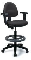tall computer chair anxr black