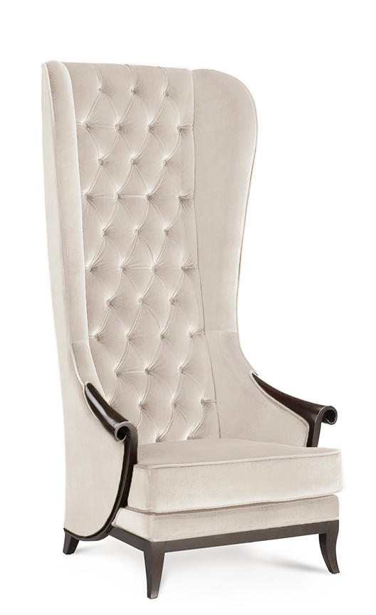 tall wingback chair high back chair duchess t beige