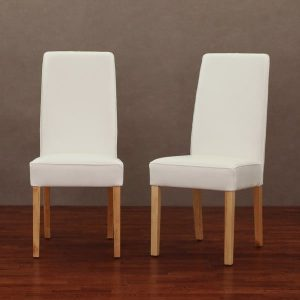tufted dining chair set of modern white leather dining chair set of efac f aea