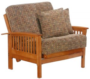 twin futon chair double futon chair with modern motif