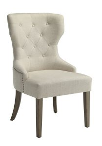 upholstered dining chair coaster florence upholstered beige dining chair set of