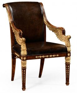 upholstered side chair empire style furniture high end dining chair p