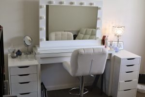 vanity chair ikea white ikea makeup vanity set with lighting and leather chair