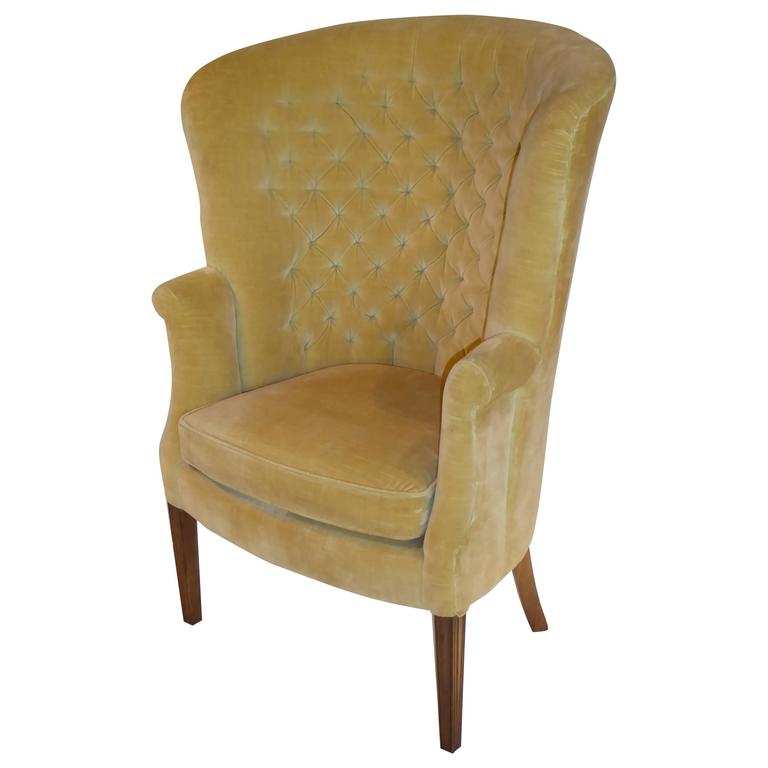 velvet tufted chair