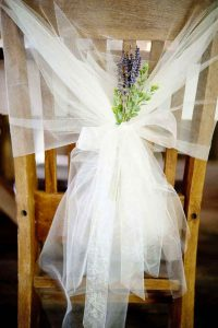 wedding chair decorations tulle wedding decoration