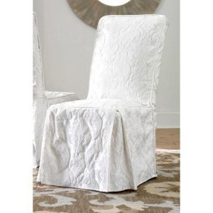 white dining chair covers $