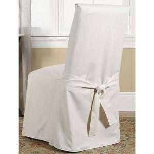 white dining chair covers sure fit cotton duck dining chair slipcover white hires