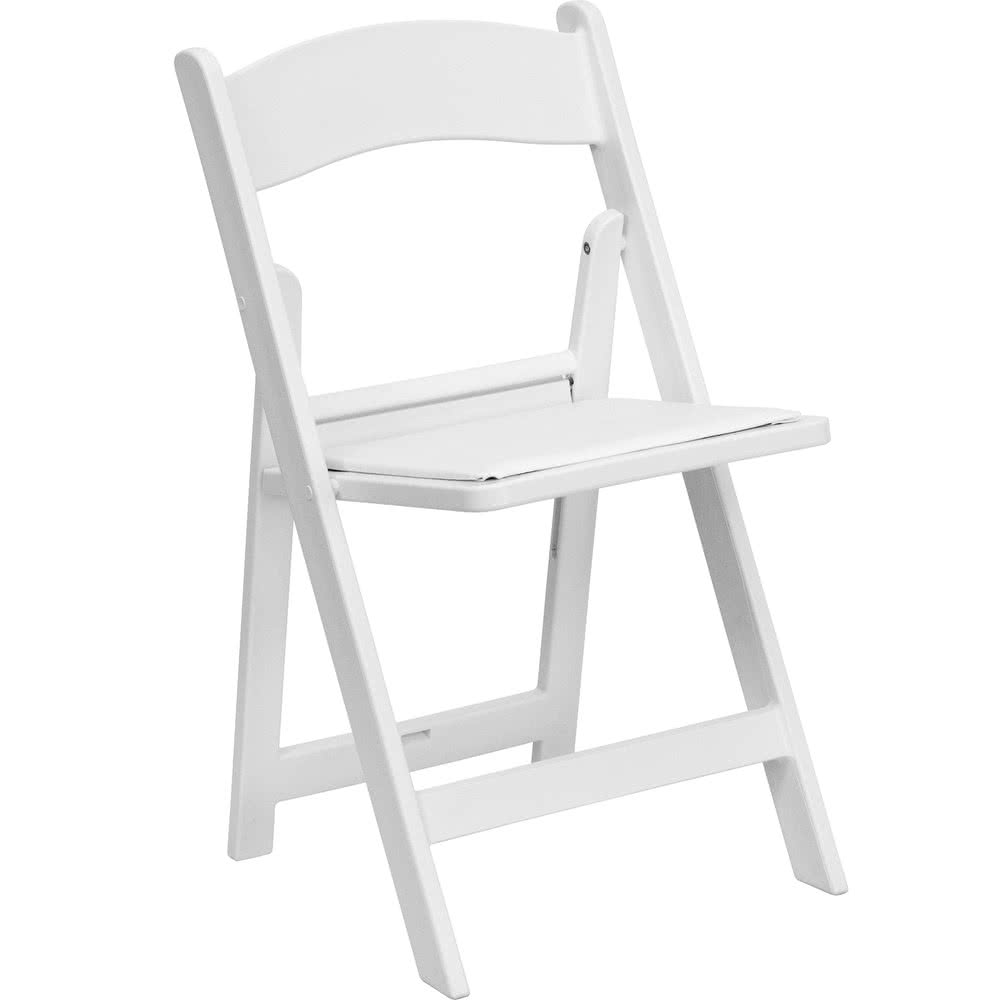 white foldable chair