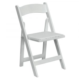 white foldable chair garden chair