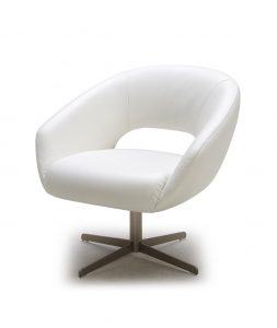 white leather chair a