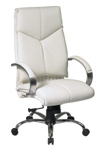 white leather office chair wht
