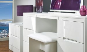 white modern desk chair high gloss white dressing table gloss white ikea badeef
