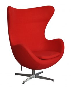white modern desk chair red egg chair