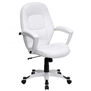 white office chair mid back white office chair for executive