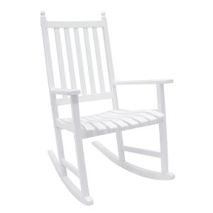 white rocking chair