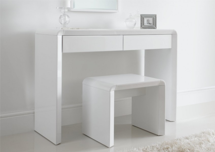 white stool chair ice dressing table