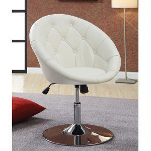 white swivel chair