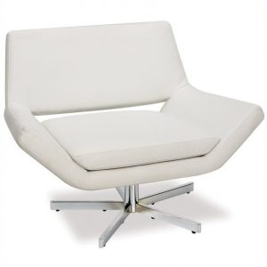 white swivel chair l