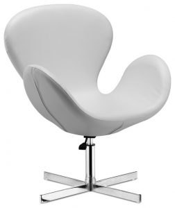 white swivel chair modern armchairs and accent chairs