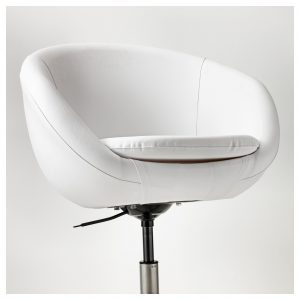 white swivel chair skruvsta swivel chair idhult white pe s