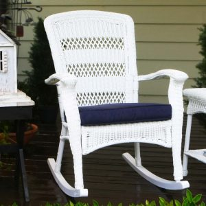 wicker chair outdoors hi res rocking chair