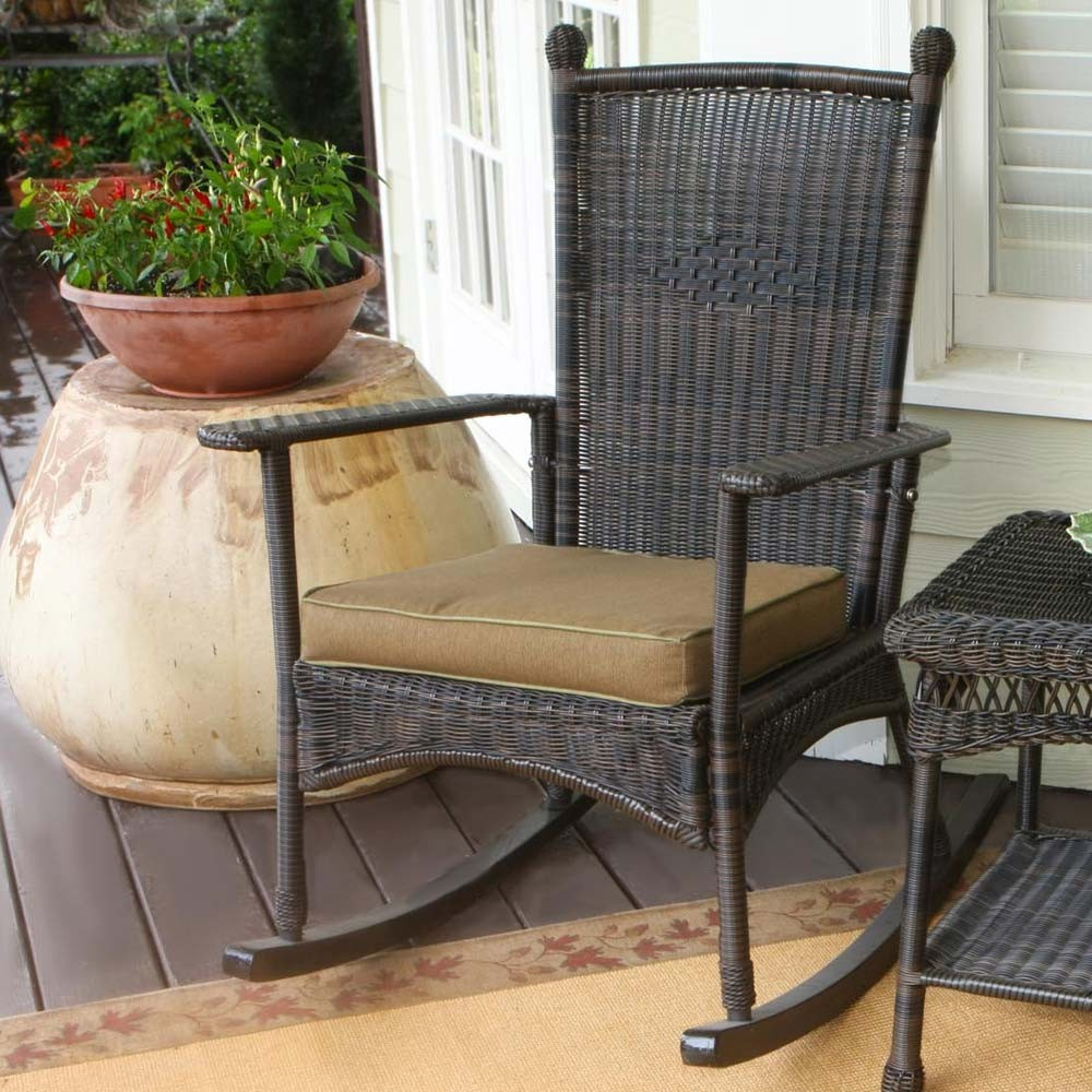 wicker chair outdoors