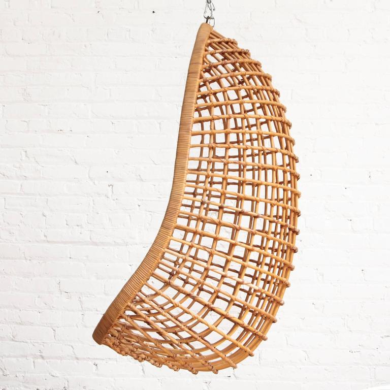 Swing Egg Stoel.Wicker Egg Chair Mrsapo Com