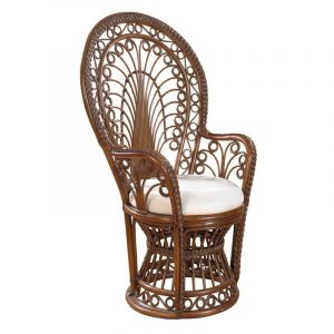 wicker peacock chair master:hosp