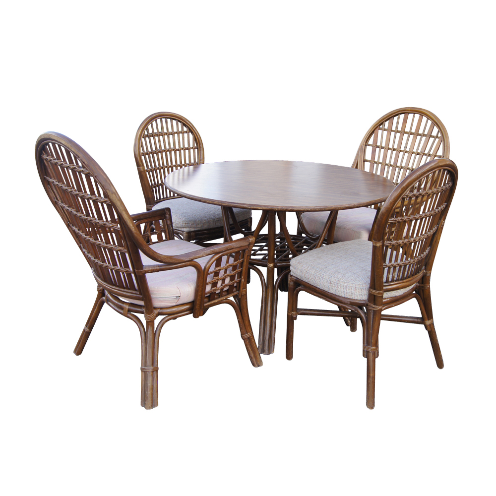 wicker table and chair