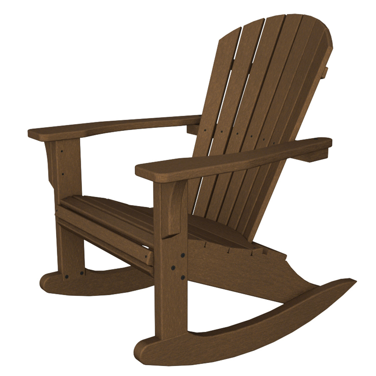wood rocking chair for nursery polywood seashell adirondack rocking chair