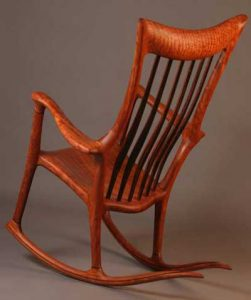 wood rocking chair hand crafted rocking chair