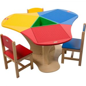 wood table and chair for kids lego table with storage