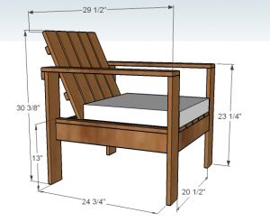 wooden chair plans knockoffwood lounge chair