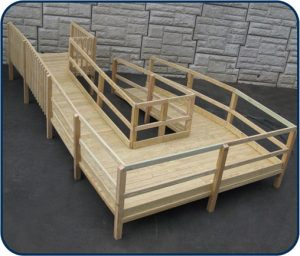 wooden wheel chair ramps wood modular ramp