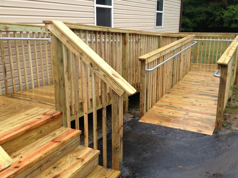 wooden wheel chair ramps