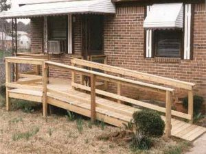 wooden wheel chair ramps wood wheelchairs ramp plans free