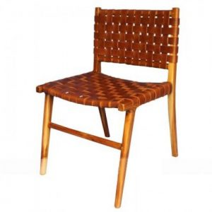 woven leather dining chair strap leather dining chair tan