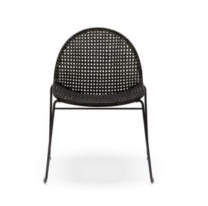 woven outdoor chair modern black rattan dining chair
