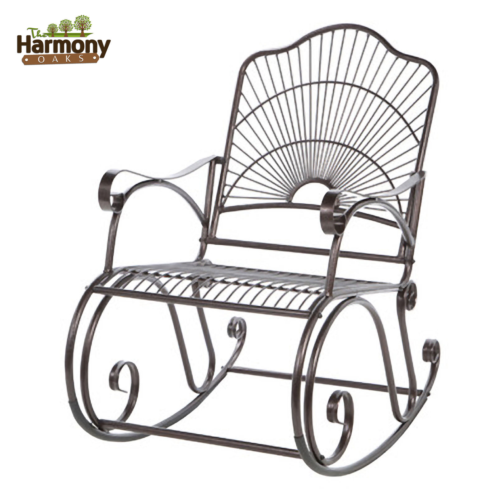 wrought iron rocker chair