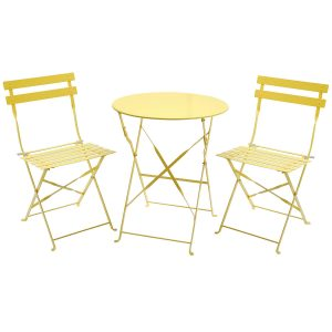 yellow chair review glbist charles bentley seater folding bistro set yellow