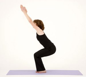 yoga chair posture chair pose utkatasana
